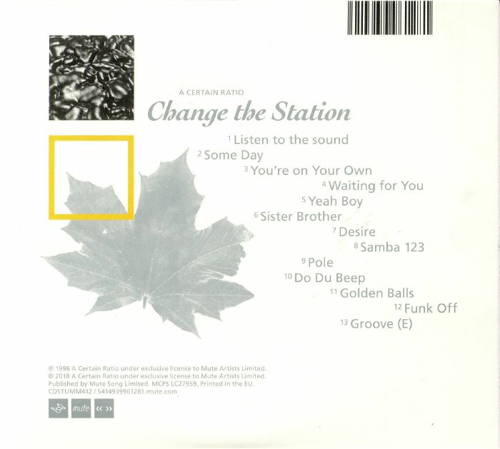 A CERTAIN RATIO - Change The Station (reissue)