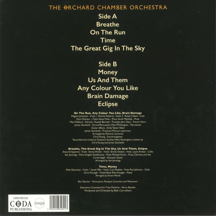 The ORCHARD CHAMBER ORCHESTRA Pink Floyd s The Dark Side Of The Moon