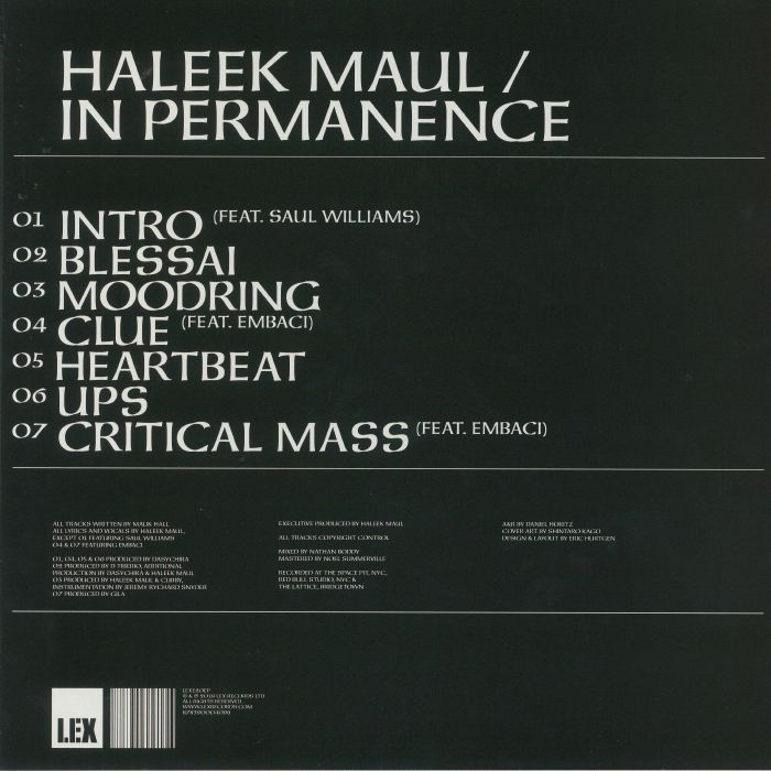HALEEK MAUL - In Permanence