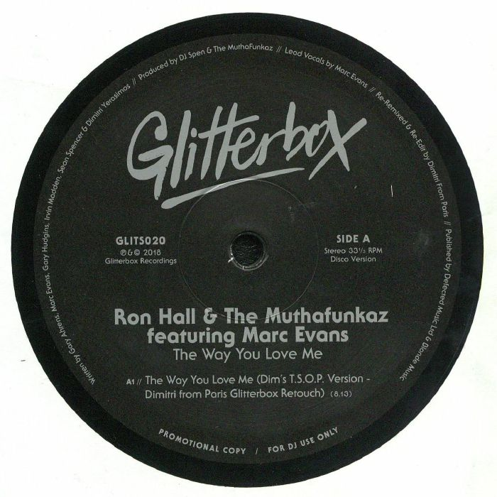 HALL, Ron/THE MUTHAFUNKAZ feat MARK EVANS - The Way You Love Me: Remixes