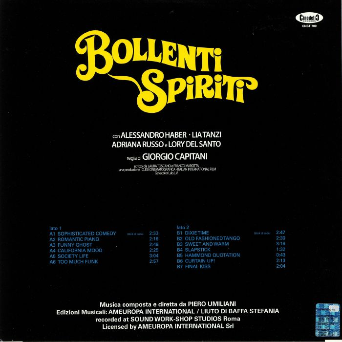 UMILIANI, Piero - Bollenti Spiriti (Soundtrack)