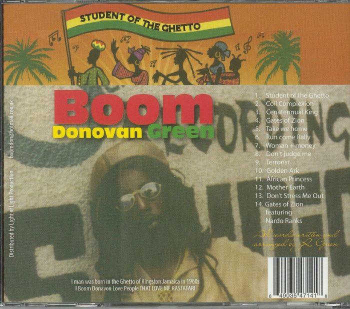 DONOVAN GREEN, Boom - Student Of The Ghetto