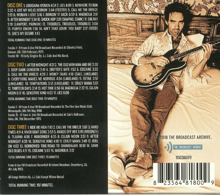 JJ CALE The Broadcast Archives: Classic Radio Transmissions