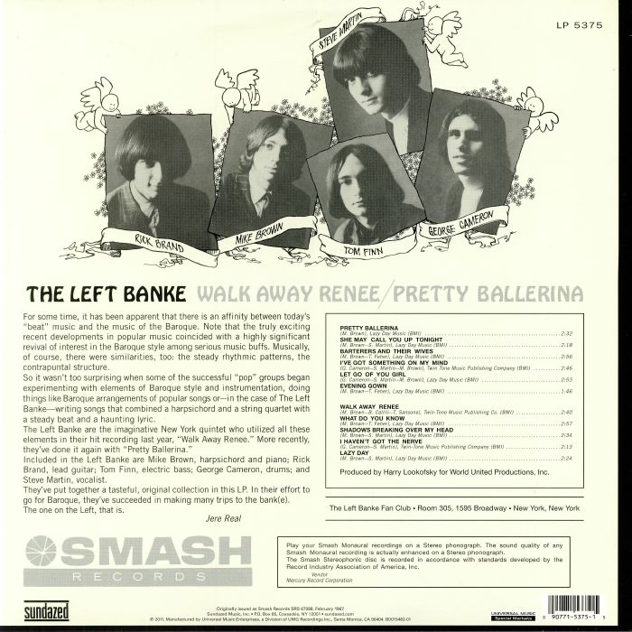 LEFT BANKE, The - Walk Away Renee/Pretty Ballerina