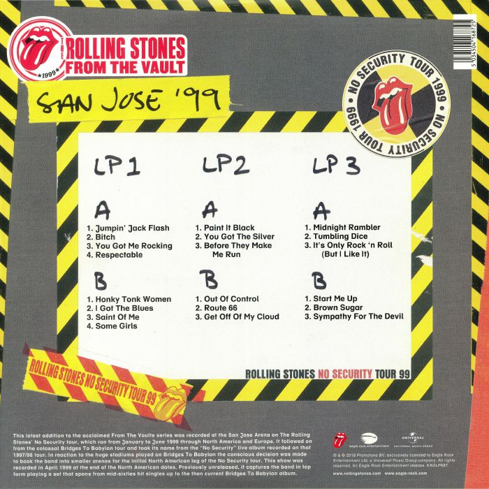 The ROLLING STONES From The Vault No Security San Jose 99