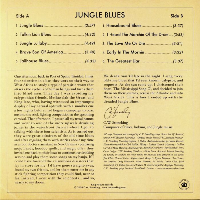 STONEKING, CW - Jungle Blues