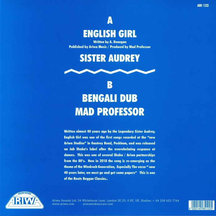 SISTER AUDREY/MAD PROFESSOR - English Girl