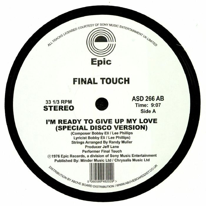 FINAL TOUCH - I'm Ready To Give Up My Love (Special Disco Version)