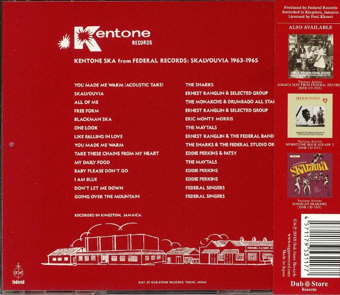 VARIOUS - Kentone Ska From Federal Records: Skalvouvia 1963-1965