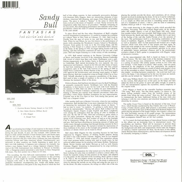BULL, Sandy with BILLY HIGGINS - Fantasias For Guitar & Banjo