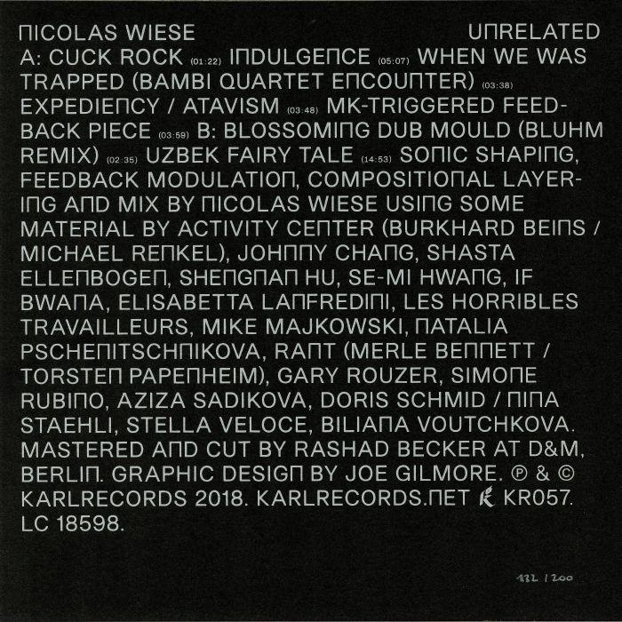 WIESE, Nicolas - Unrelated