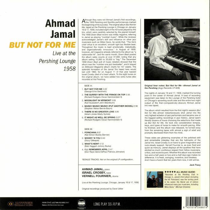 ahmad jamal poinciana live at the pershing lounge