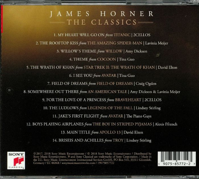 HORNER, James/VARIOUS - The Classics