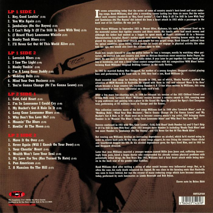 WILLIAMS, Hank - The Very Best Of Hank Williams
