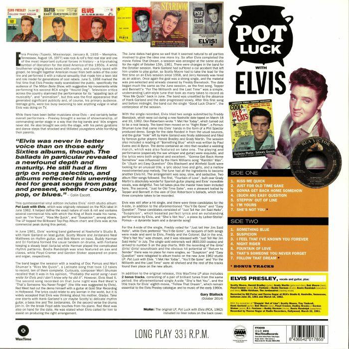 PRESLEY, Elvis - Pot Luck With Elvis