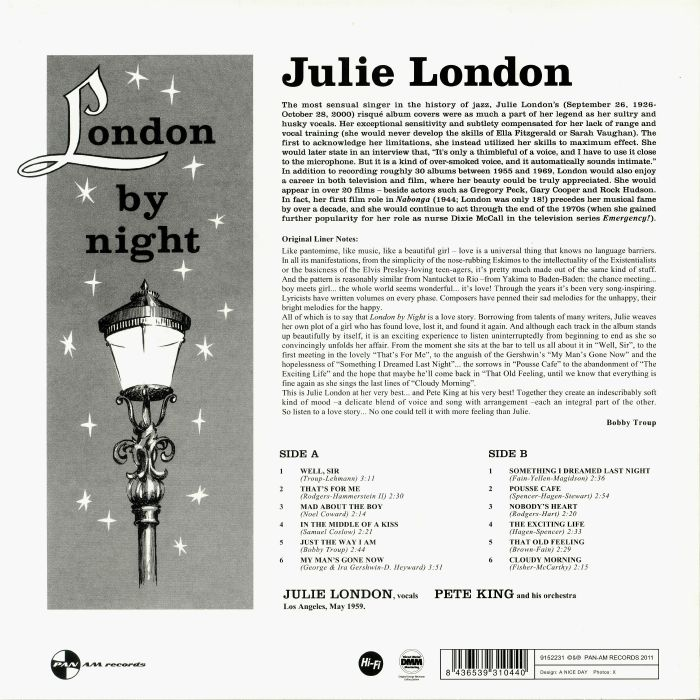 LONDON, Julie - London By Night