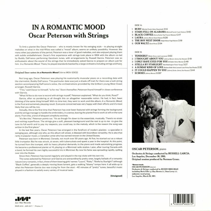 PETERSON, Oscar with STRINGS - In A Romantic Mood