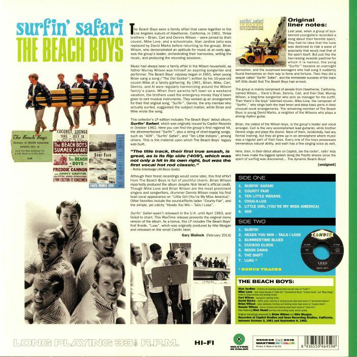 BEACH BOYS, The - Surfin' Safari (reissue)