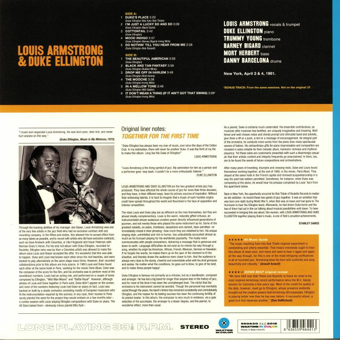 ARMSTRONG, Louis/DUKE ELLINGTON - The Great Summit
