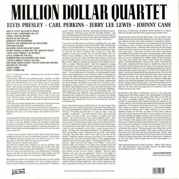 MILLION DOLLAR QUARTET, The aka ELVIS PRESLEY/CARL PERKINS/JERRY LEE LEWIS/JOHNNY CASH - The Million Dollar Quaret