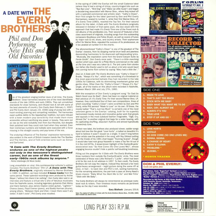 EVERLY BROTHERS, The - A Date With The Everly Brothers (reissue)
