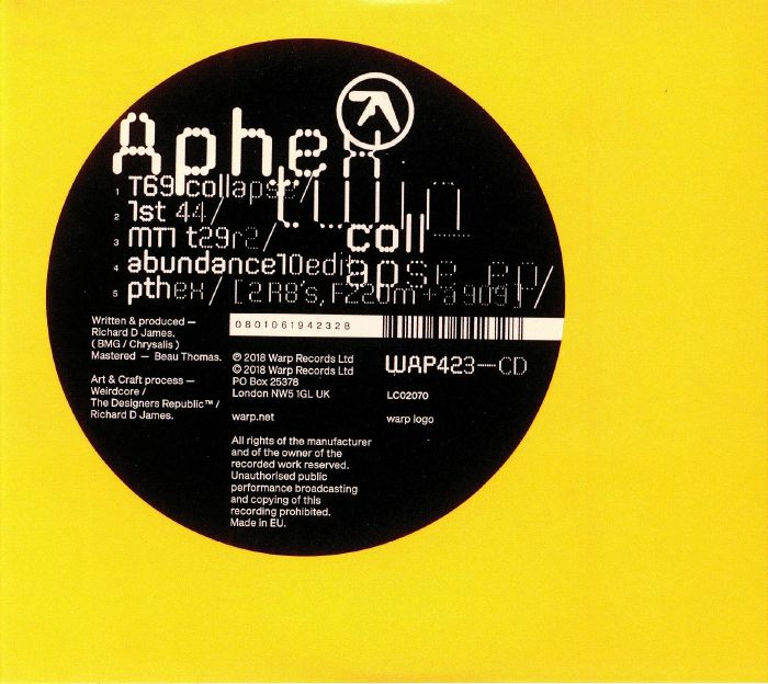 APHEX TWIN Collapse EP vinyl at Juno Records