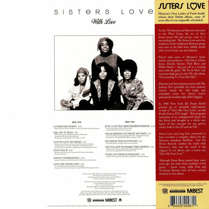 Sisters Love With Love Vinyl At Juno Records