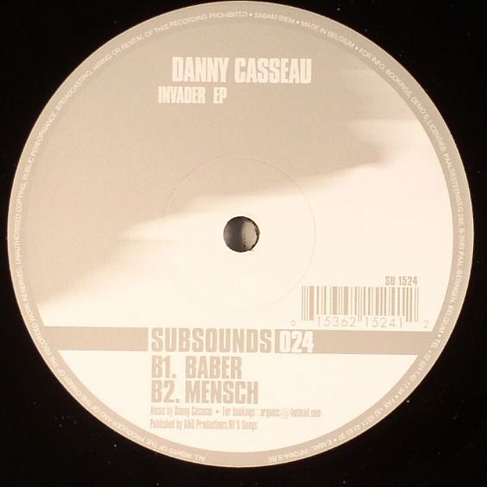 CASSEAU, Danny - Invader EP