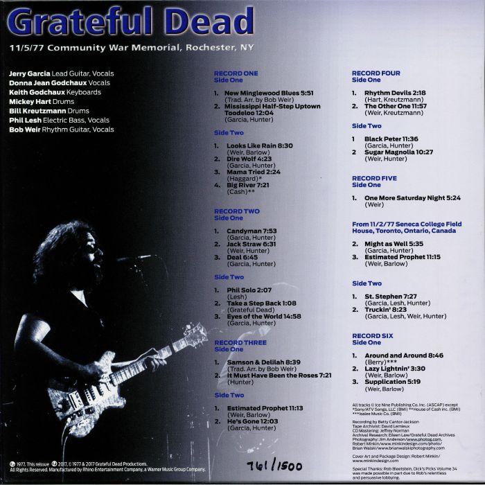 Grateful Dead Dick S Picks 34 11 5 77 Community War