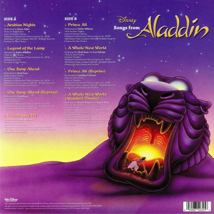 Alan MENKEN//HOWARD ASHMAN/TIM RICE/VARIOUS Songs From Aladdin