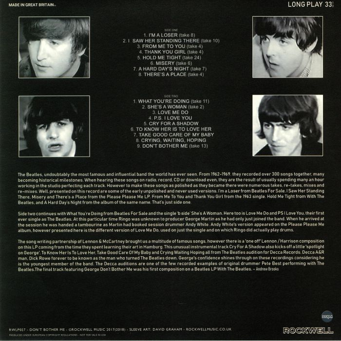 Dont Bother Me Four Things You Should >> The Beatles Don T Bother Me Vinyl At Juno Records