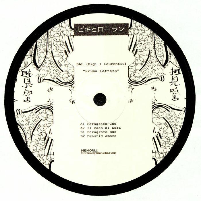 Bal Aka Bigi/laurentiu Prima Lettera Vinyl At Juno Records.