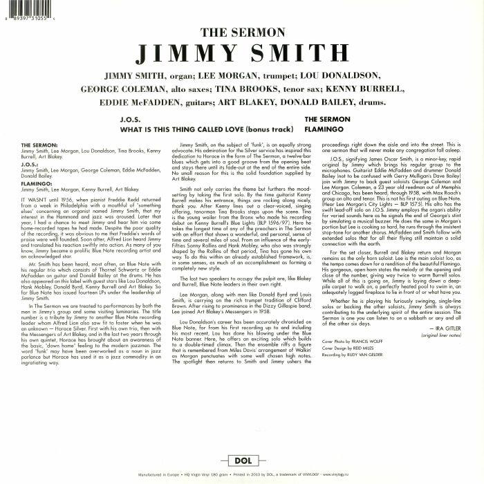 Jimmy SMITH The Sermon (reissue) vinyl at Juno Records