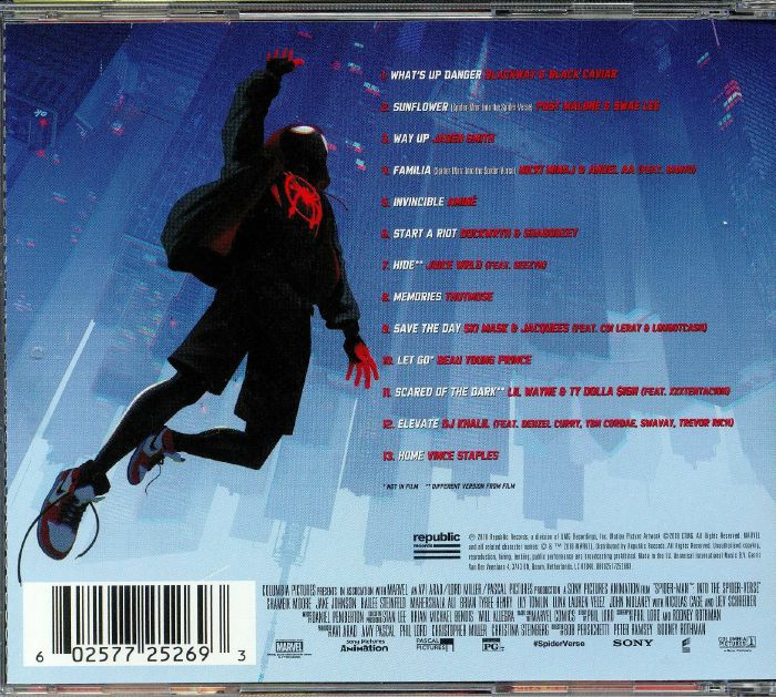 Various Spiderman Into The Spider Verse Soundtrack Vinyl At Juno