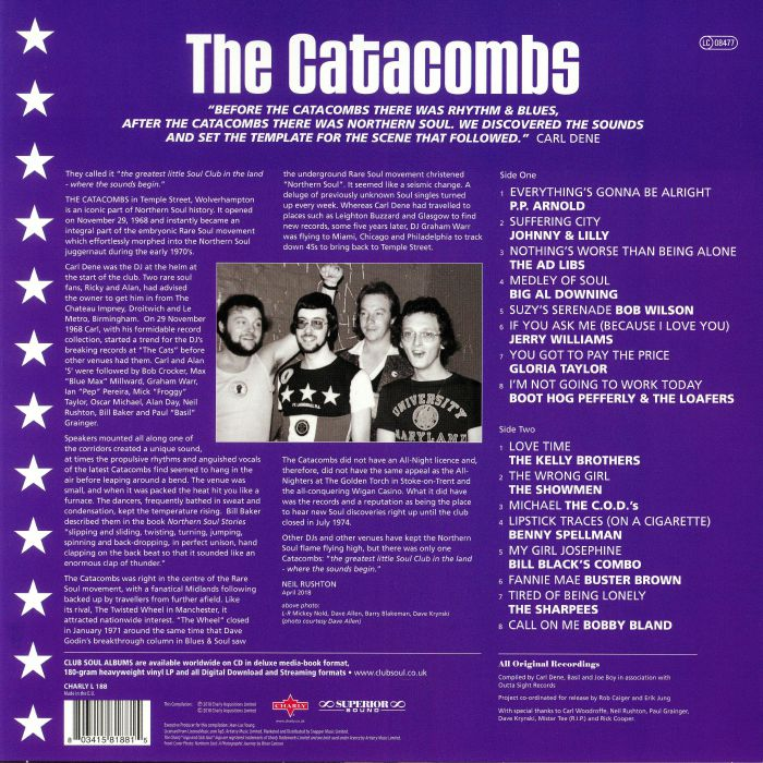 CLUB SOUL/VARIOUS The Catacombs: The Original Sound Of Northern Soul