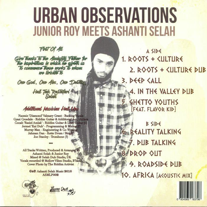 JUNIOR ROY meets ASHANTI SELAH Urban Observations vinyl at Juno Records