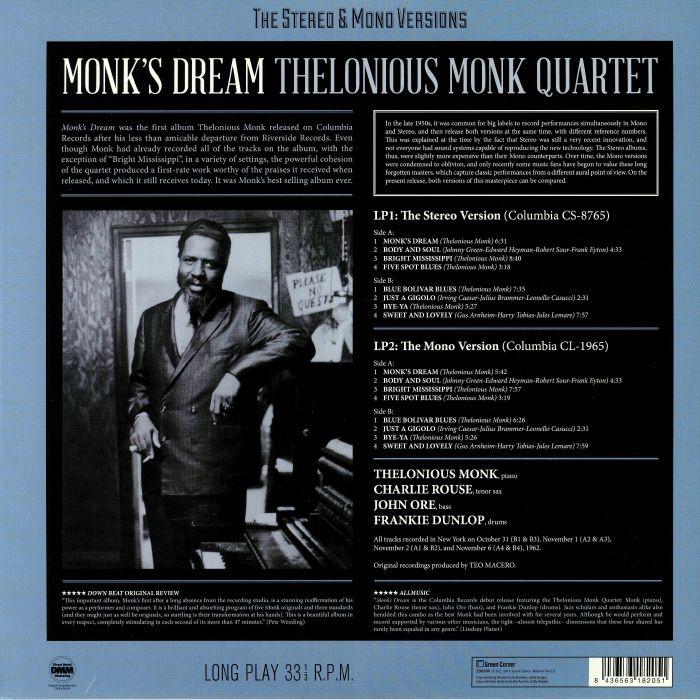 THELONIOUS MONK QUARTET Monk s Dream: The Stereo & Mono Versions