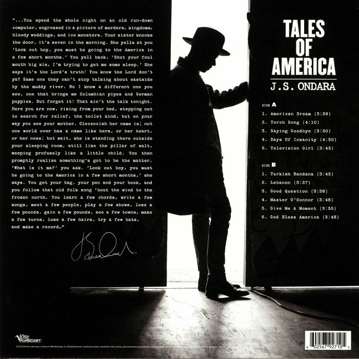 JS ONDARA Tales Of America vinyl at Juno Records