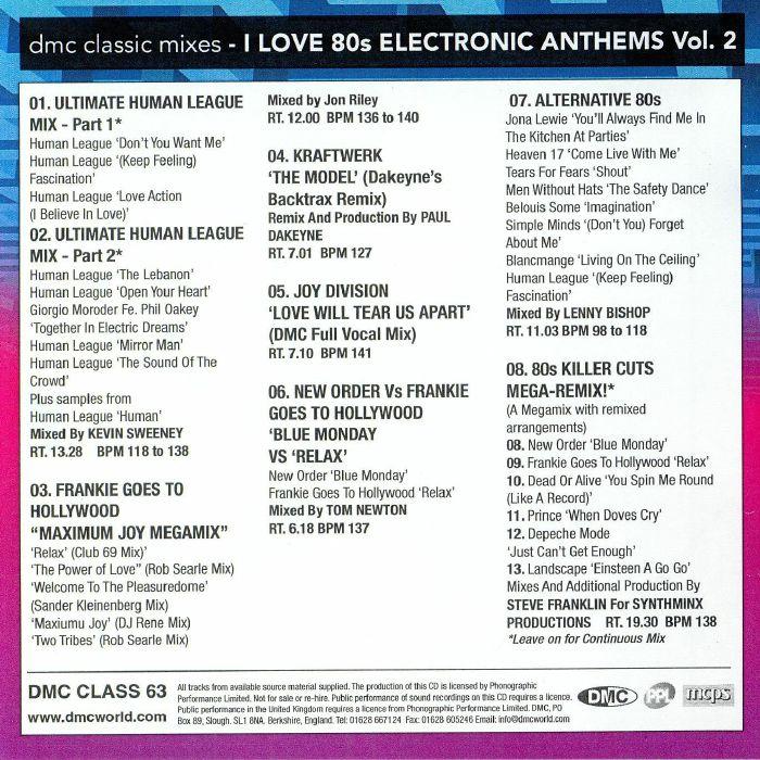 VARIOUS DMC Classic Mixes: I Love 80s Electronic Anthems Vol