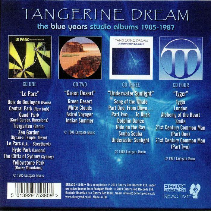 TANGERINE DREAM The Blue Years Studio Albums 1985 1987 vinyl