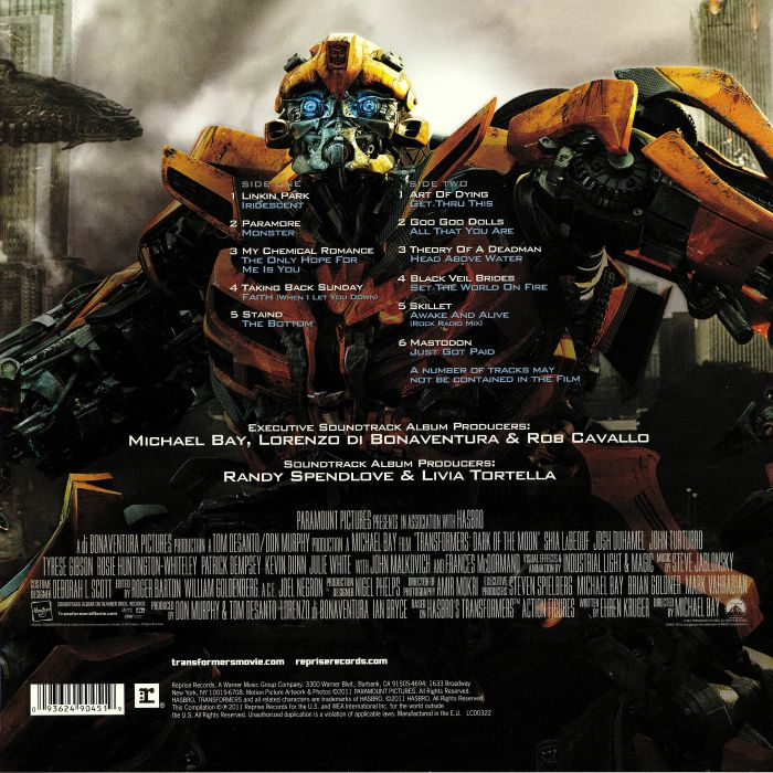 Various Transformers Dark Of The Moon Soundtrack