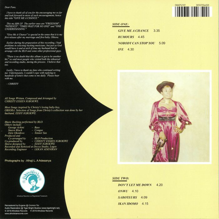 Christy ESSIEN Give Me A Chance vinyl at Juno Records
