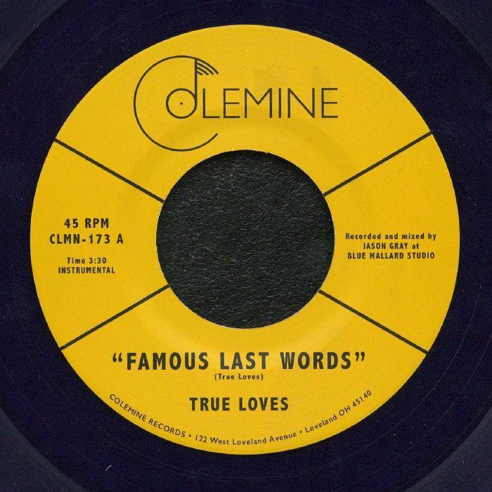 The TRUE LOVES Famous Last Words vinyl at Juno Records