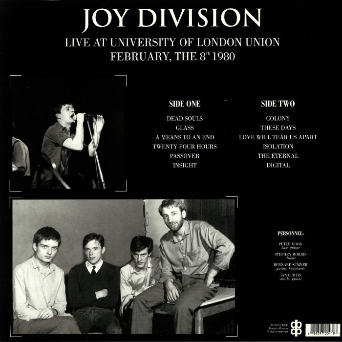 JOY DIVISION Live At University Of London Union February The