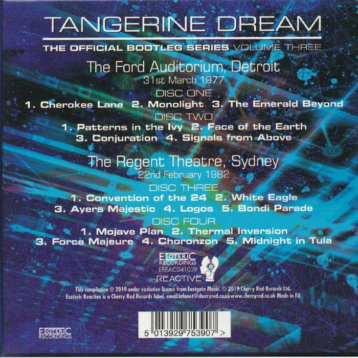 TANGERINE DREAM The Official Bootleg Series Vol 3 vinyl at Juno Records