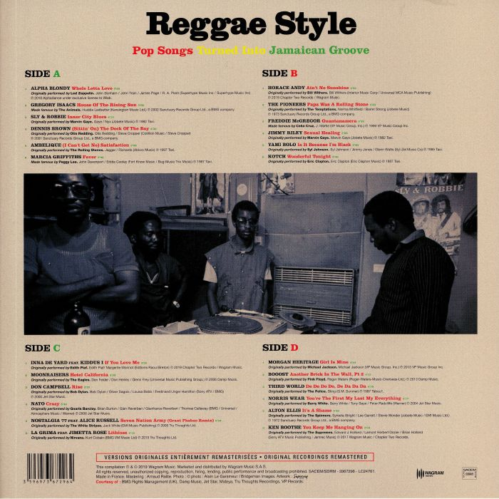 VARIOUS Reggae Style: Pop Songs Turned Into Jamaican Groove