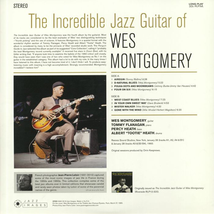 Wes MONTGOMERY The Incredible Jazz Guitar vinyl at Juno Records