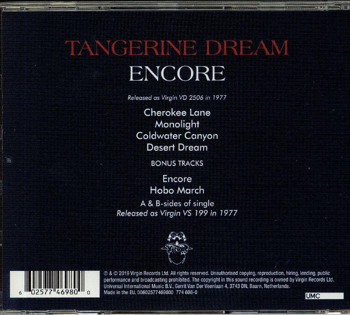 TANGERINE DREAM Encore (reissue) vinyl at Juno Records