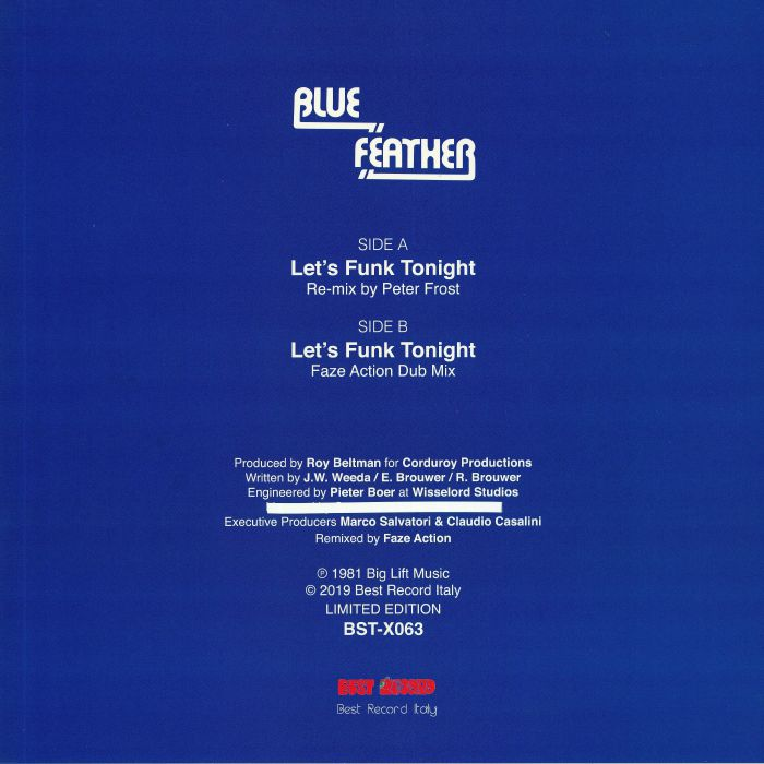 BLUE FEATHER Let s Funk Tonight (Faze Action mix) vinyl at Juno Records