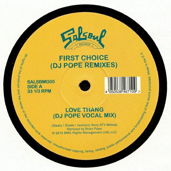 FIRST CHOICE Love Thang: DJ Pope Remixes vinyl at Juno Records